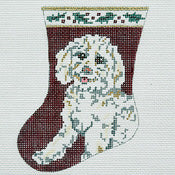 Bichon Sock Ornament