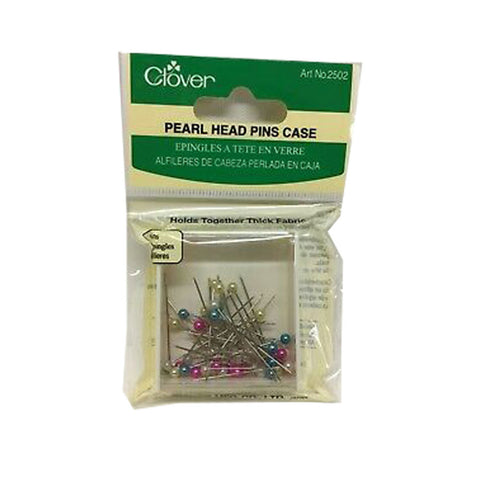 Clover Pearl Head Pins and Case