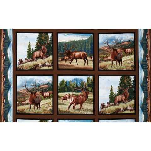 North American Wildlife Earth Elk Panel
