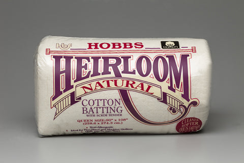 Hobbs Heirloom Natural Cotton Batting Queen Size