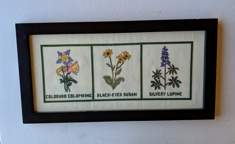 Rocky Mountain Wildflowers Counted Cross Stitch Kit