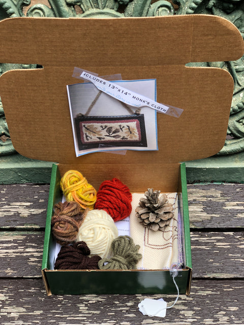 Punch Needle Rug Hooking Green Box Kits