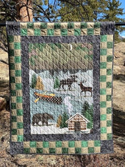Panel and Checkerboard Quilt Top Kit