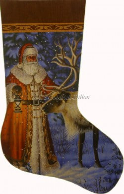 Santa Finds Reindeer Stocking