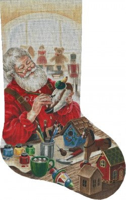 Woodcarving Santa Stocking