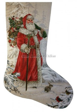 Wilderness Santa Stocking