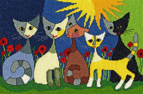 Five Cats Cross Stitch Kit