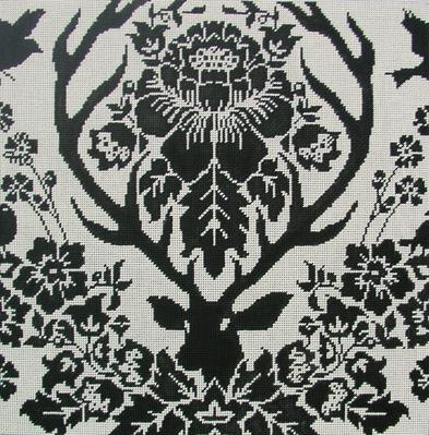 Antler Damask - Black