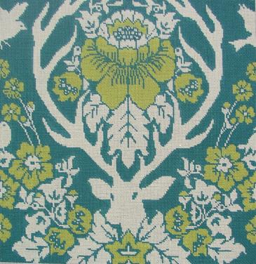 Antler Damask - Peacock