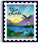 At the Lake Stamp