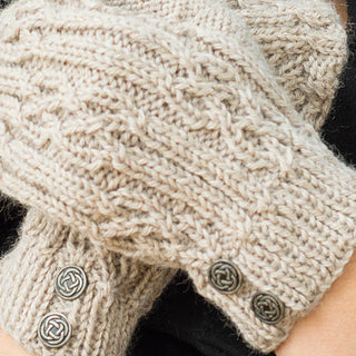 Celtic Cable & Rib Beanie and MIttens