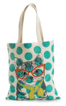 Cool Cat Canvas Project Tote