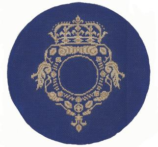 9.5 D Crest Pillow - blue