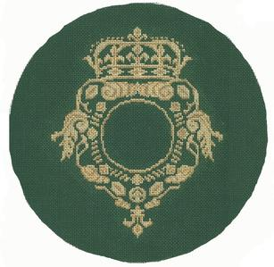 9.5 D Crest Pillow - green