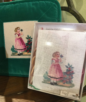 Doll in Pink Dress Needlepoint Kit
