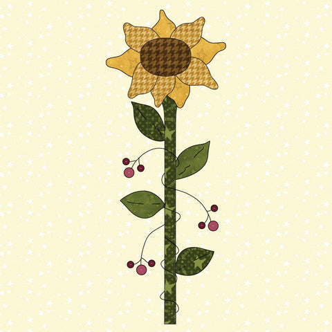 Sunflower & Berries Precut Fused Applique Kit