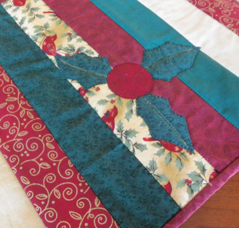 Holly Table Runner by Fiber on a Whim