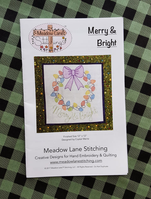Merry and Bright  Embroidery and Quilting Pattern