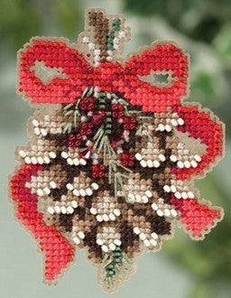 Pinecone  Cross Stitch Kit-- Winter Holiday Collection