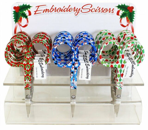 Assorted Holiday Embroidery Scissors