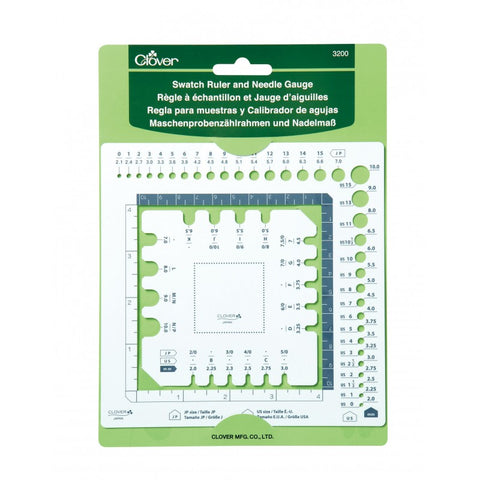 Clover Swatch Ruler and Needle Gauge