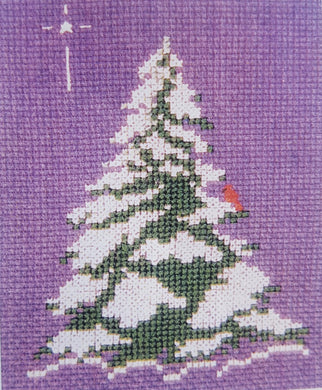 Winter Evergreen Cross Stitch Pattern