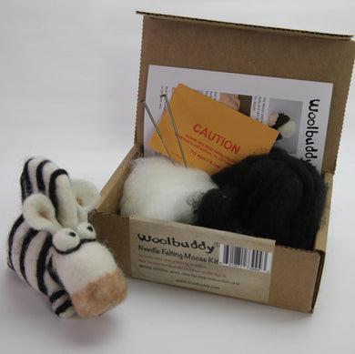 Zebra Needle Felting Kit