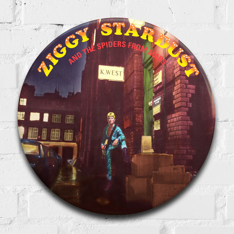 David Bowie, Ziggy Stardust GIANT 3D Vintage Pin Badge
