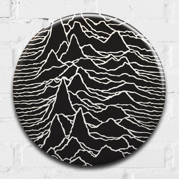 Joy Division (Unknown Pleasures) GIANT 3D Vintage Pin Badge