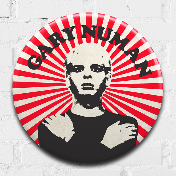 Gary Numan GIANT 3D Vintage Pin Badge