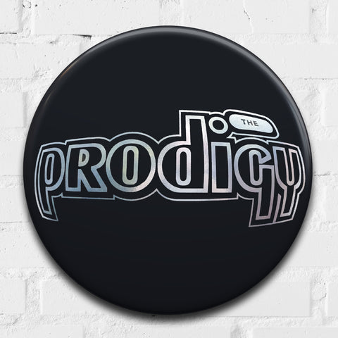 The Prodigy Logo GIANT 3D Pin Badge.