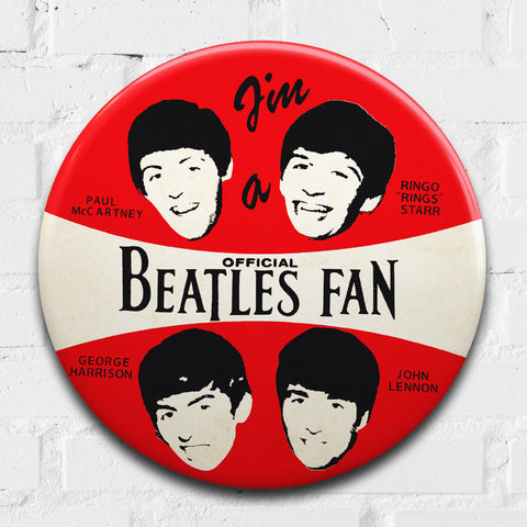 The Beatles GIANT 3D Vintage Pin Badge