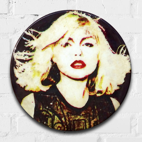 Blondie 1977 GIANT 3D Vintage Pin Badge