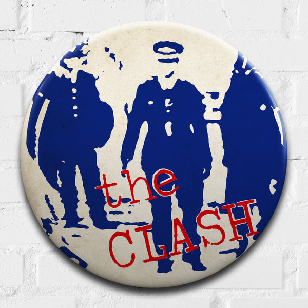 The Clash (Police and Thieves) GIANT 3D Vintage Pin Badge