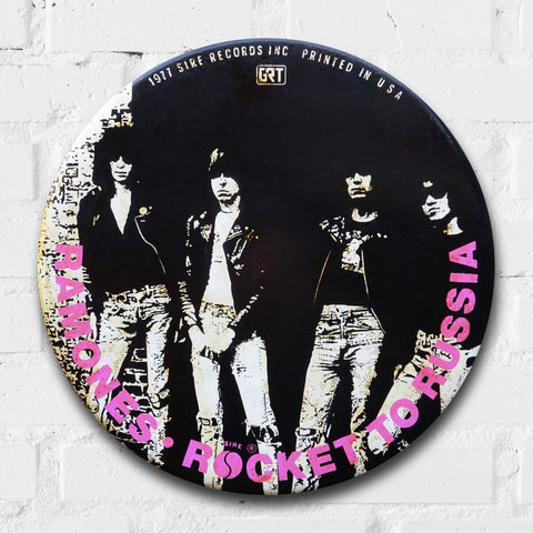 Ramones, Rocket To Russia GIANT 3D Vintage Pin Badge
