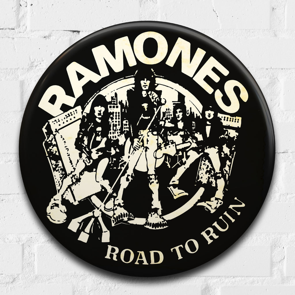 Ramones (Road to Ruin) GIANT 3D Vintage Pin Badge