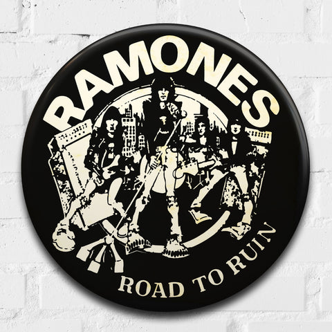 Ramones, Road to Ruin GIANT 3D Vintage Pin Badge