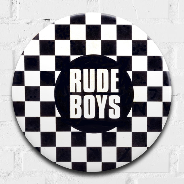 Rude Boys (2tone) GIANT 3D Vintage Pin Badge