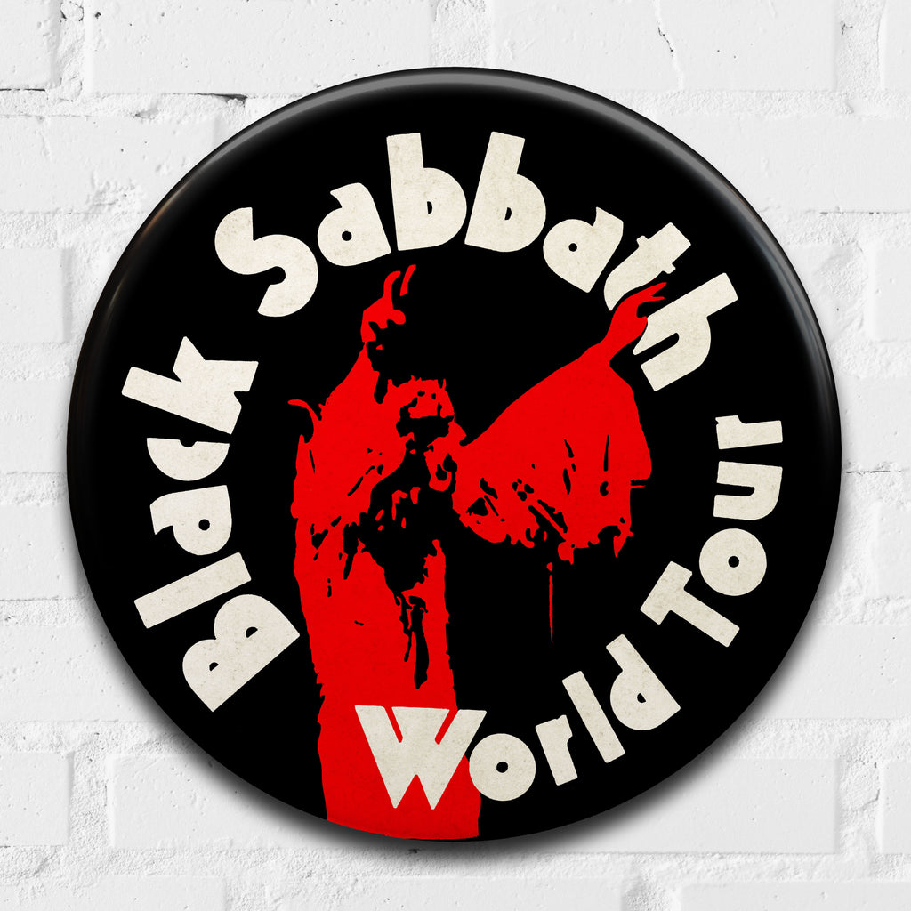 Black Sabbath (World Tour) GIANT 3D Vintage Pin Badge