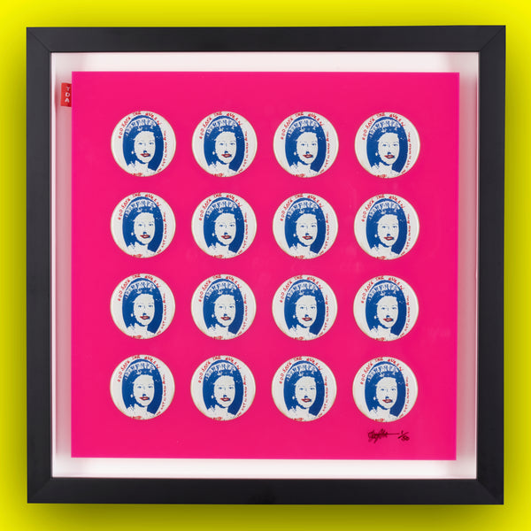 Multiple Pin Badge Framed Print SEX PISTOLS