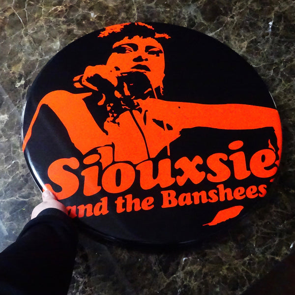 Siouxsie and the Banshees GIANT 3D Vintage Pin Badge