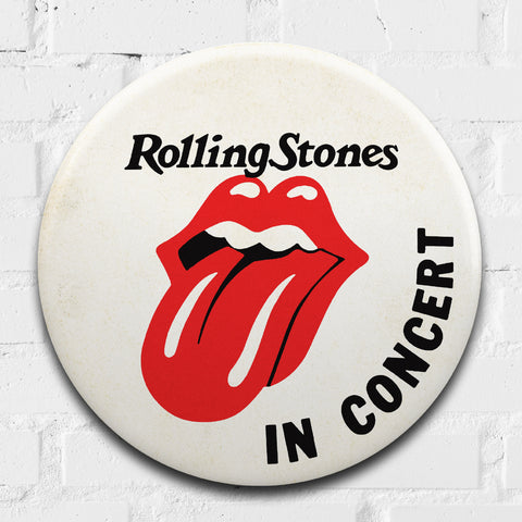 The Rolling Stones GIANT 3D Vintage Pin Badge