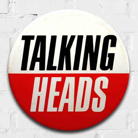 Talking Heads GIANT 3D Vintage Pin Badge