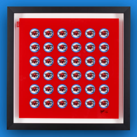 Multiple Pin Badge Framed Print THE JAM