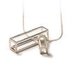 102 A - Big Rectangle - silver - Felix Doll Jewelry