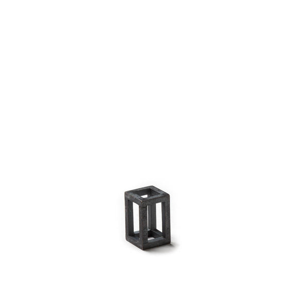 108.16 A - Rectangle XS - black silver - Felix Doll Jewelry