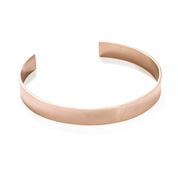 113 C - Bold Vertical Chocker - 18ct rose gold-plated brass