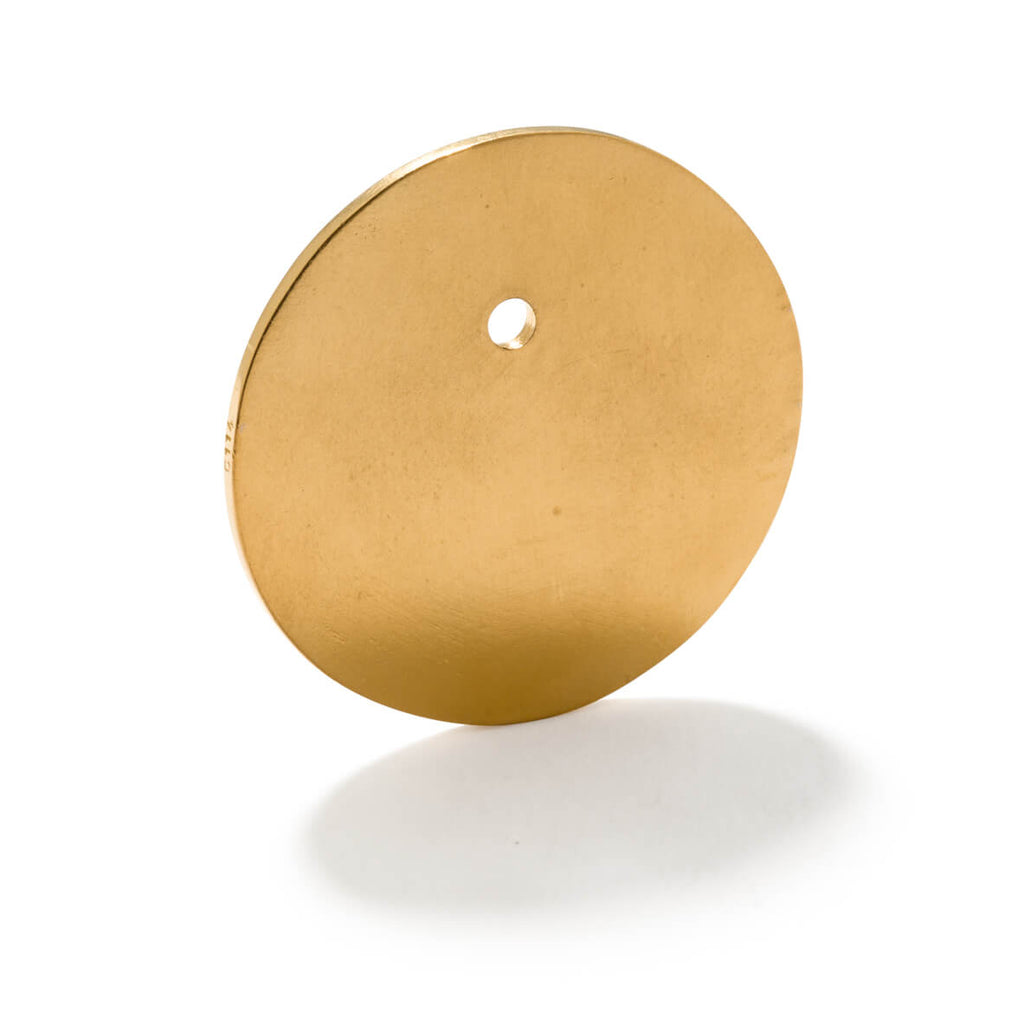 114.2 C - Flat Disc Pendant Medium - 24ct gold-plated brass