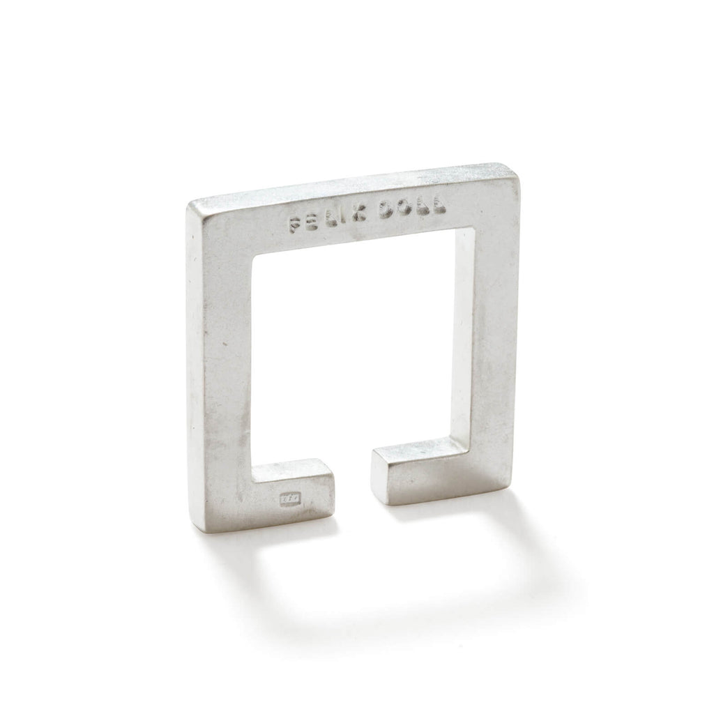 241 C - Solid Square Ring - Sterling Silver