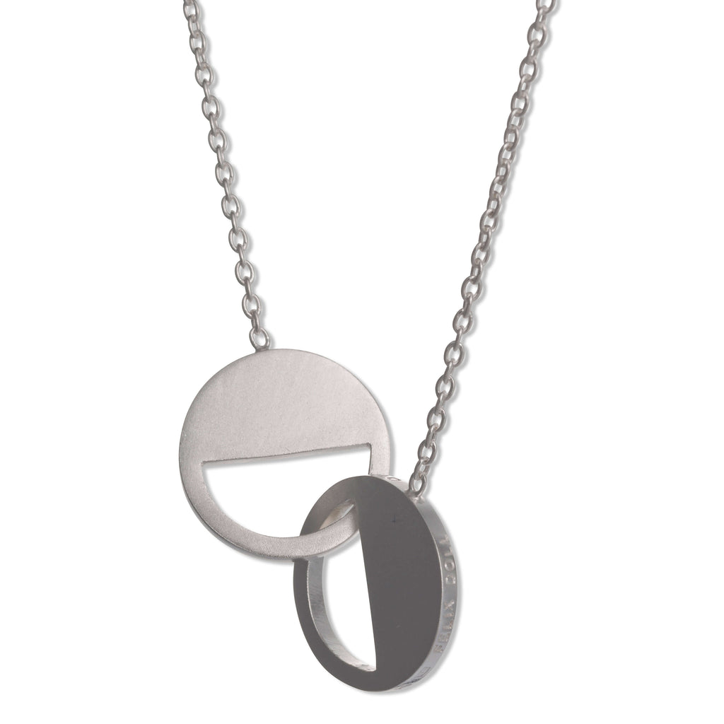 122 D - Connecting Circle Necklace  - sterling silver